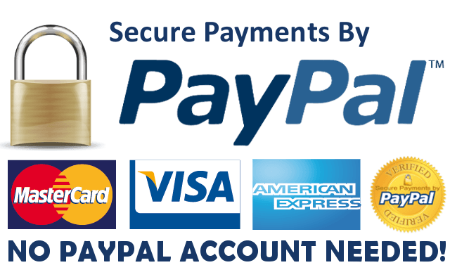 paypal acceptance mark, pay online securely and safely, click the paypal logo